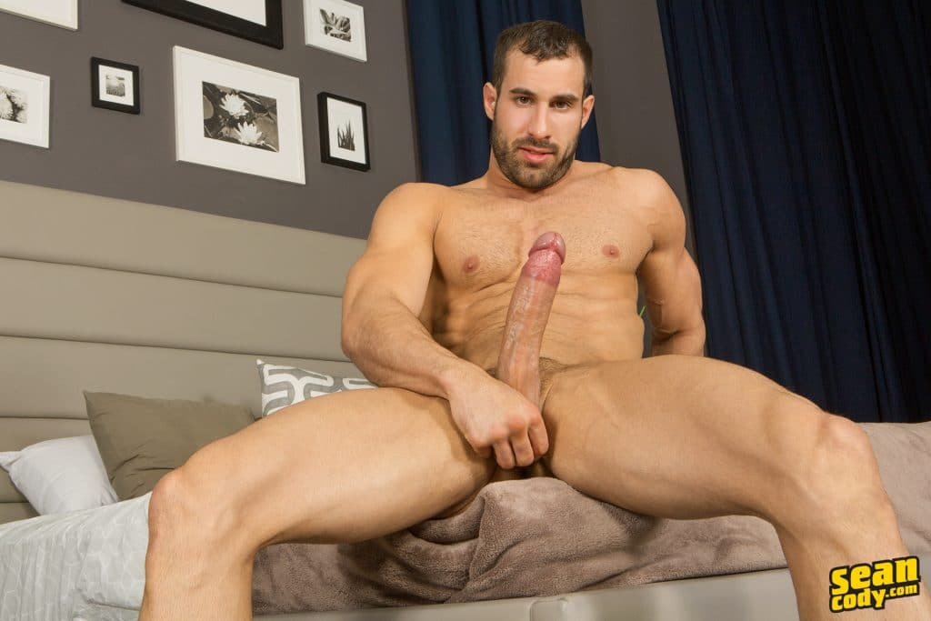 Thick dick twink auditions for gay porn with a hot jerk off
