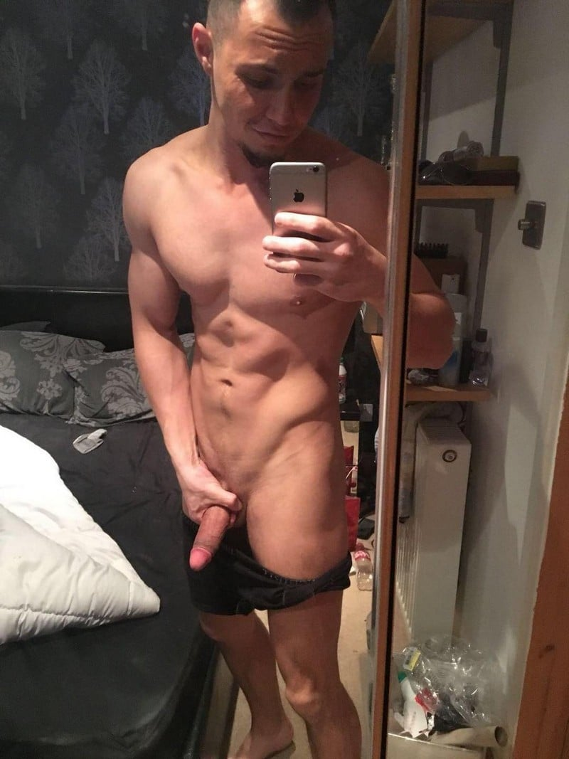 Erected smooth shaved penis